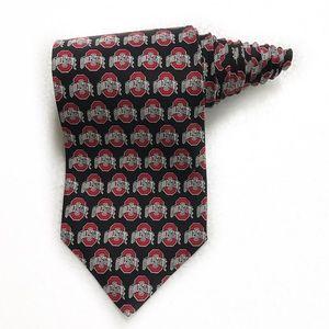 Ralph Marlin Ohio State University Silk Tie